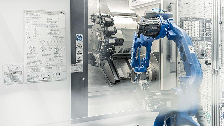 Automatisierung Roboter Drehzentrum Fräszentrum